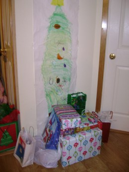 A paper Christmas tree is the ultimate low maintenance decoration for a family Christmas.