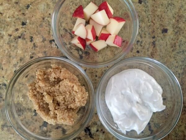 Cinnamon Apple Quinoa Parfait ingredients