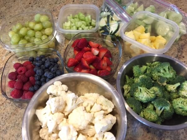 fruit and vegetable food prep