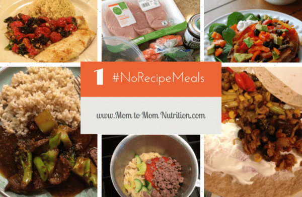 No Recipe Meals for Busy Moms @katieserbinski