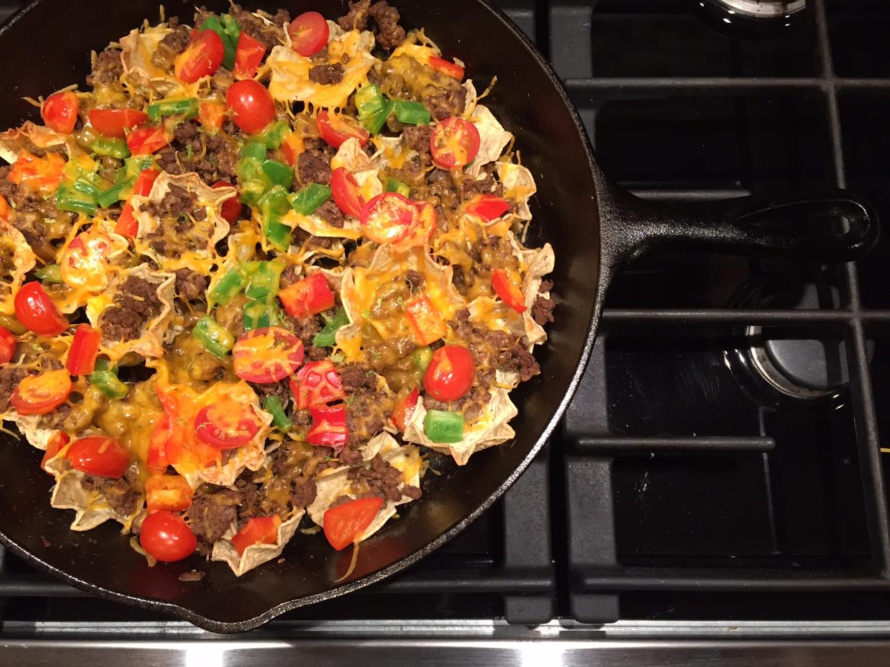 Ground beef skillet nachos mom to mom nutrition ground beef skillet nachos katieserbinski forumfinder Images