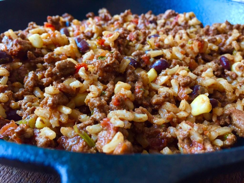 Beef Burrito Skillet @katieserbinski