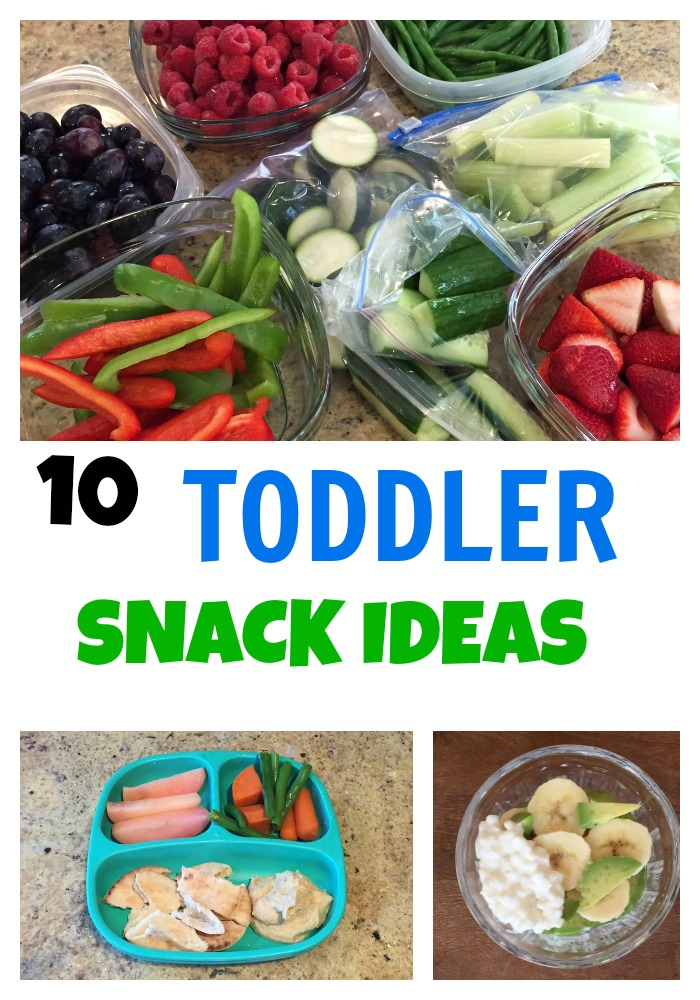 10 toddler snack ideas @katieserbinski