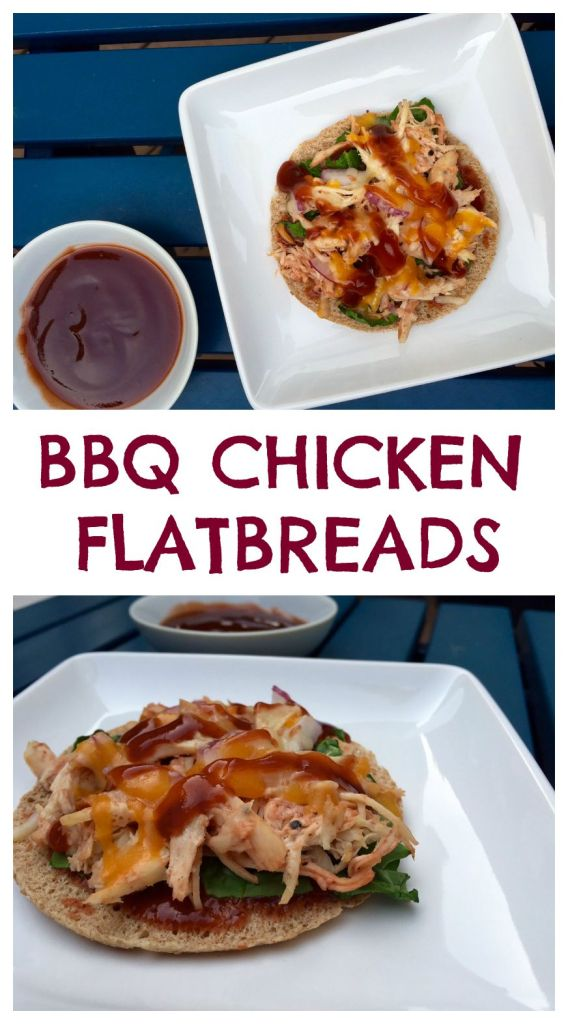 With bottled sauce, pre-cooked chicken, and fresh veggie toppings, these BBQ Chicken Flatbread Pizzas come together in minutes! @MomNutrition