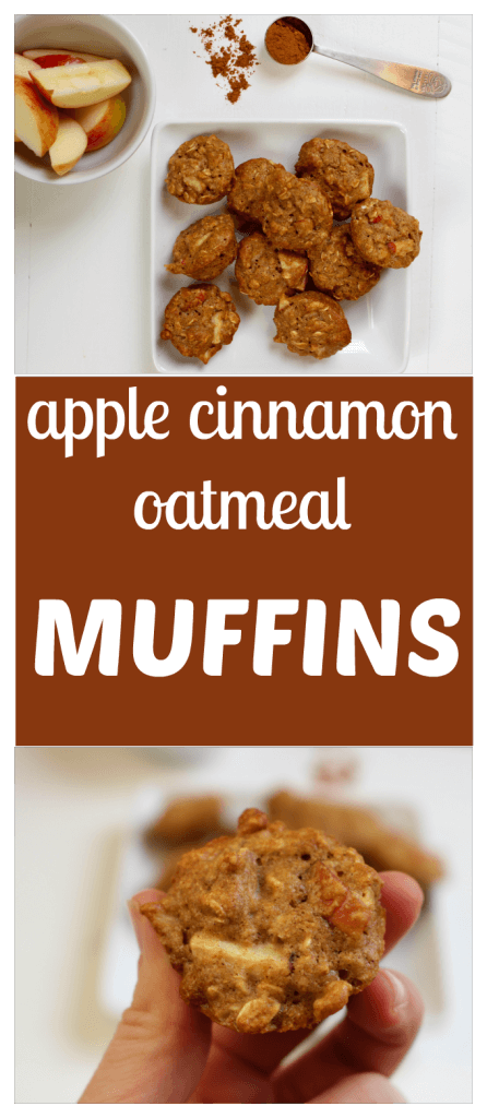 Apple Cinnamon Oatmeal Muffins are the perfect snack or breakfast on the go, made with fresh apples and whole grains. Collage