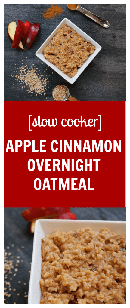 These apple cinnamon overnight oats are so easy to throw together and with the help of your slow cooker you can have a warm breakfast ready for you in the morning!