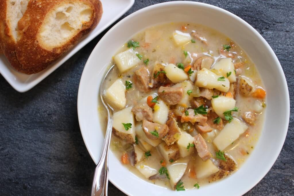 Chicken sausage potato soup is a hearty, comforting soup that's so easy to make and loaded with lots of nutritious, budget-friendly ingredients.