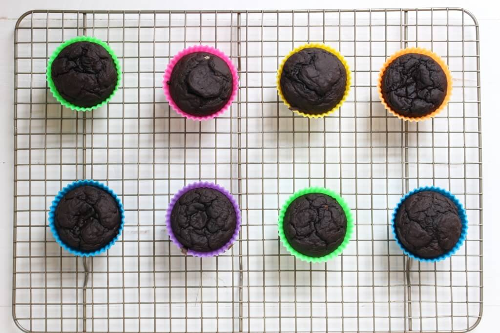 Healthy Chocolate Muffins are made with simple ingredients like cocoa powder, banana, and Greek yogurt, making the perfect mix for a moist and somewhat dense muffin!