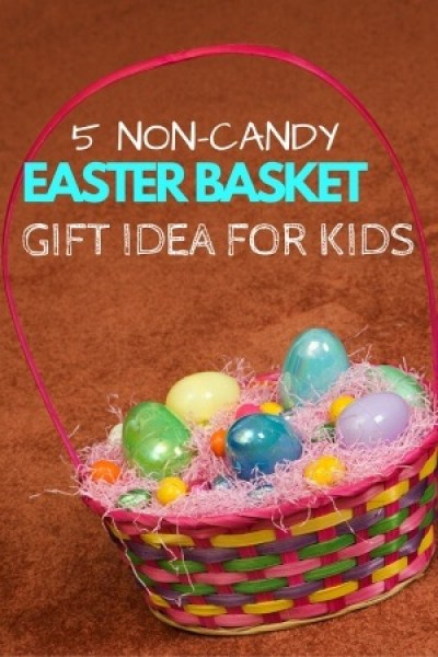Skip the chocolate and pick some fun non-candy Easter basket gift ideas for the kids this Easter--- the best being books, and other kid favorites such as bubbles, crayons, and stickers!