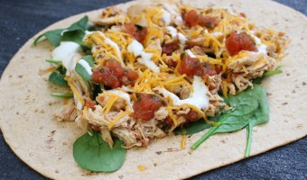 With the help of your slow cooker and the tasty flavor combinations of salsa and ranch, these Salsa Chicken Ranch Wraps make a simple lunch or dinner the whole family can enjoy!
