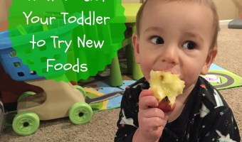 """How to Get Your Toddler to Try New Foods Getting your toddler to try new foods is no easy task! But have no fear… there a few tricks you can try to open their mouths and taste buds to new textures and flavors. I didn't realize the angst and stress that would come with feeding small children. I'll admit I was prepared for the sleepless nights, the teething, the ear infections, etc. But food? Heck! I love food. Ted loves food. How could we create children that decide they'd like to use food as toys?! The reality is you can't pick and choose your child's eating habits. But I've quickly learned that there's small victories in the grand scheme of feeding your picky eater. And that's getting them to TRY new foods. Try being the keyword here… because in order to get your kids [or husband or oneself] to like a food, they've got to try it first! Offer favorites with new foods. This trick is KEY for my boys. And usually [typing while knocking on wood] works when I give them their ultimate favorite food: yogurt! So IF there's a new food that I'd like them to pick up, sniff, and possibly put to their mouths, I give them their favorite """"side"""" as the familiar food on their plate. Our go-to yogurt for the """"familiar trick"""" is Chobani Tots Greek yogurt pouches. If the boys decide to skip trying the newbie, I'm comforted knowing they are getting a good source of protein and calcium with a little sweetness to satisfy their hunger. Another bonus: these pouches and their flavors are made without artificial sweeteners or preservatives. Something every person or parent can feel good about! Vary your child's favorite foods. What I really mean by this strategy is not to serve the same food twice in one day, or two days in a row. I """"stole"""" this tip from a feeding expert and it's worked out well for us. While it might seem like you need to have all kinds of foods stocked in your fridge or pantry, well, you are right. That's doesn't mean you have to buy a lot of everything though. A green bell"""