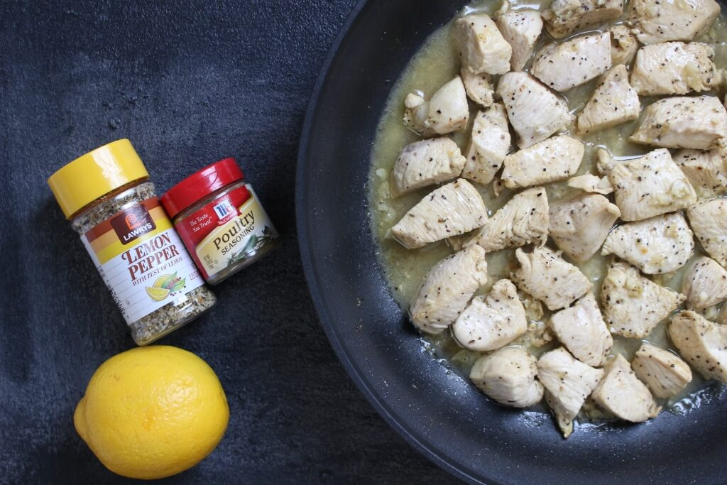 Lemon Pepper Chicken Skillet is a simple weeknight meal made with bright and fresh lemon flavors and an easy pan sauce.