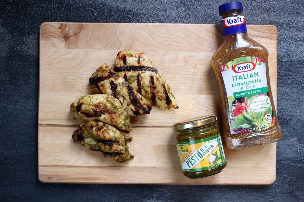 Italian Pesto Grilled Chicken makes the most of a few store bought staples for one simple and flavorful healthy chicken dish!