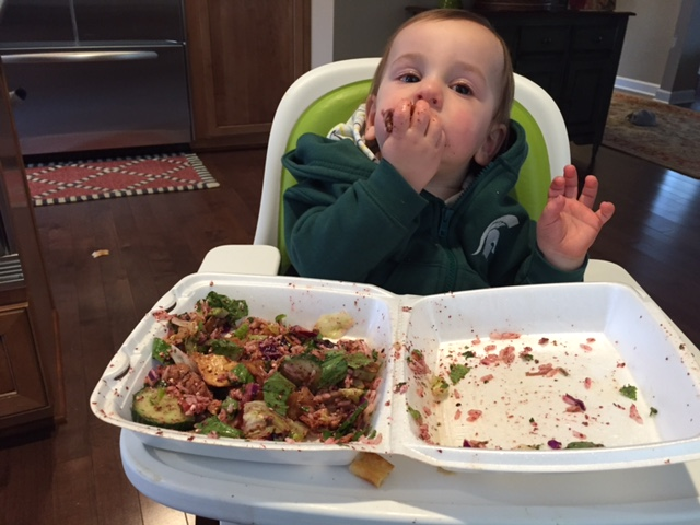 I'd be lying if I didn't admit mealtime is REALLY stressful and messy with toddlers!