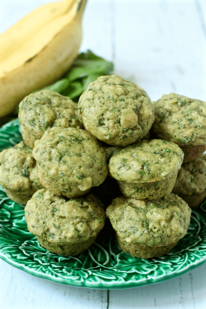 Spinach-banana-mini-muffins