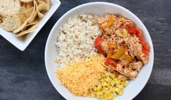 Slow Cooker Chicken Enchilada Bowls
