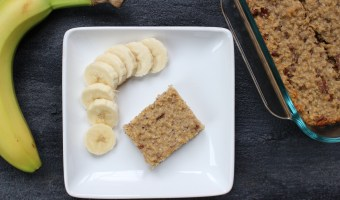 Banana breakfast bars make a quick and easy breakfast or afternoon snack and are baked to perfection with simple ingredients like yogurt, oats, and bananas.