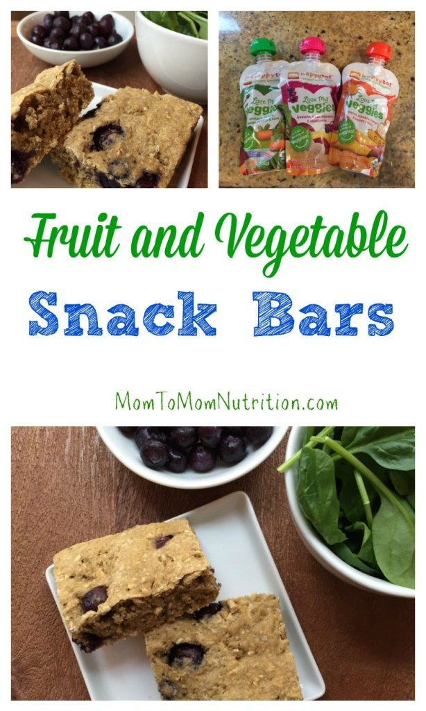 Fruit and vegetable snack bars make the perfect on the go snack. Plus they have a secret ingredient: Love My Veggies pouches from Happy Family brands.