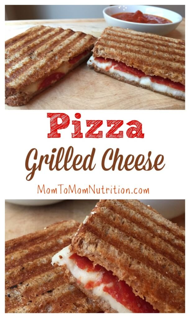 Grilled cheese and pizza toppings make pizza grilled cheese in this twist on a classic comfort food and kid-friendly lunchtime favorite.