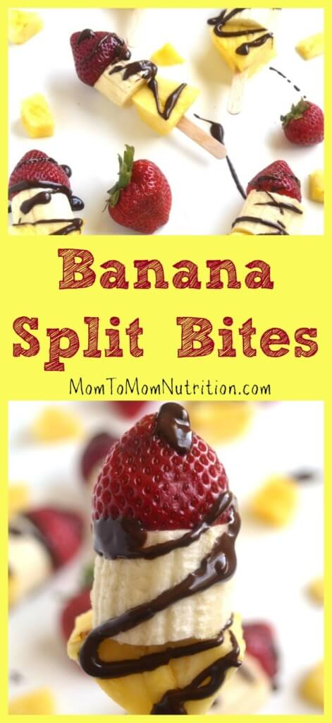 Banana Split Bites are made with just 4 ingredients and are simple, healthy treats that are perfect for summer!
