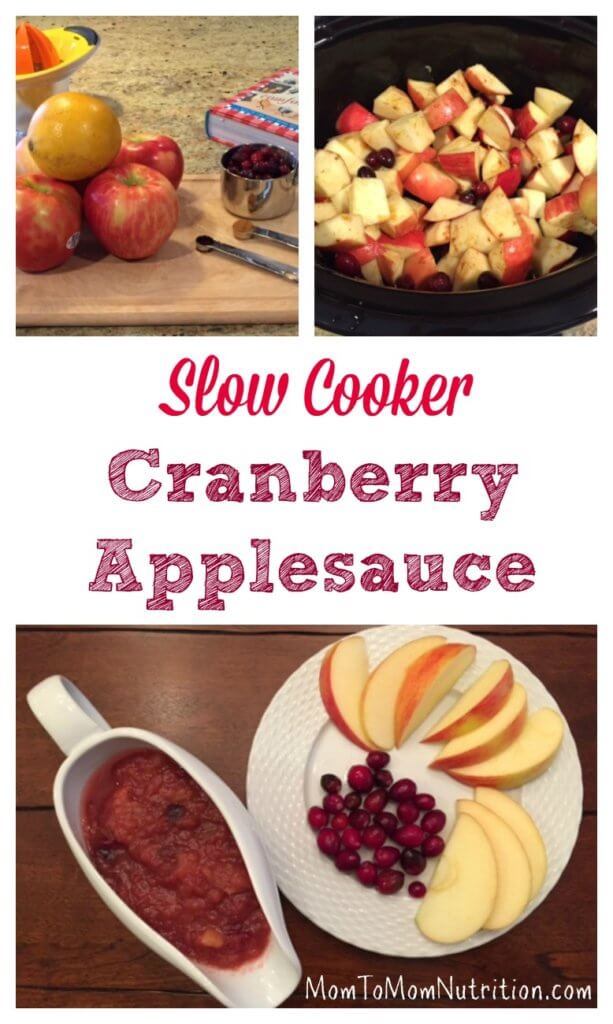 This slow cooker cranberry applesauce had no added sugar and takes minimal effort to make with the help of your slow cooker.