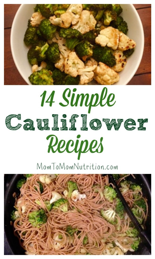 From main dishes to sides to baby food, these simple cauliflower recipes are healthy for everyday meals and easy on the grocery budget!