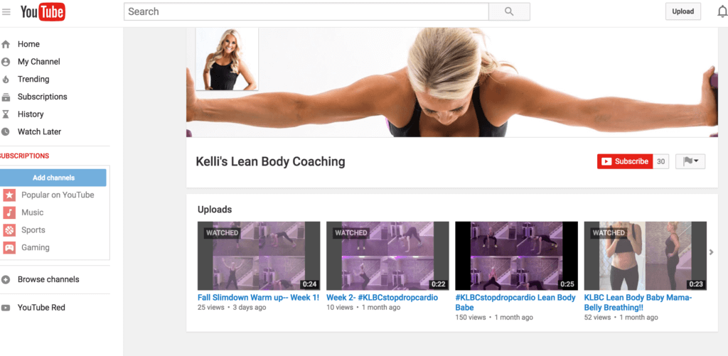 Kelli's YouTube Channel has a TON of circuit workouts that I like to do when the kids are napping!