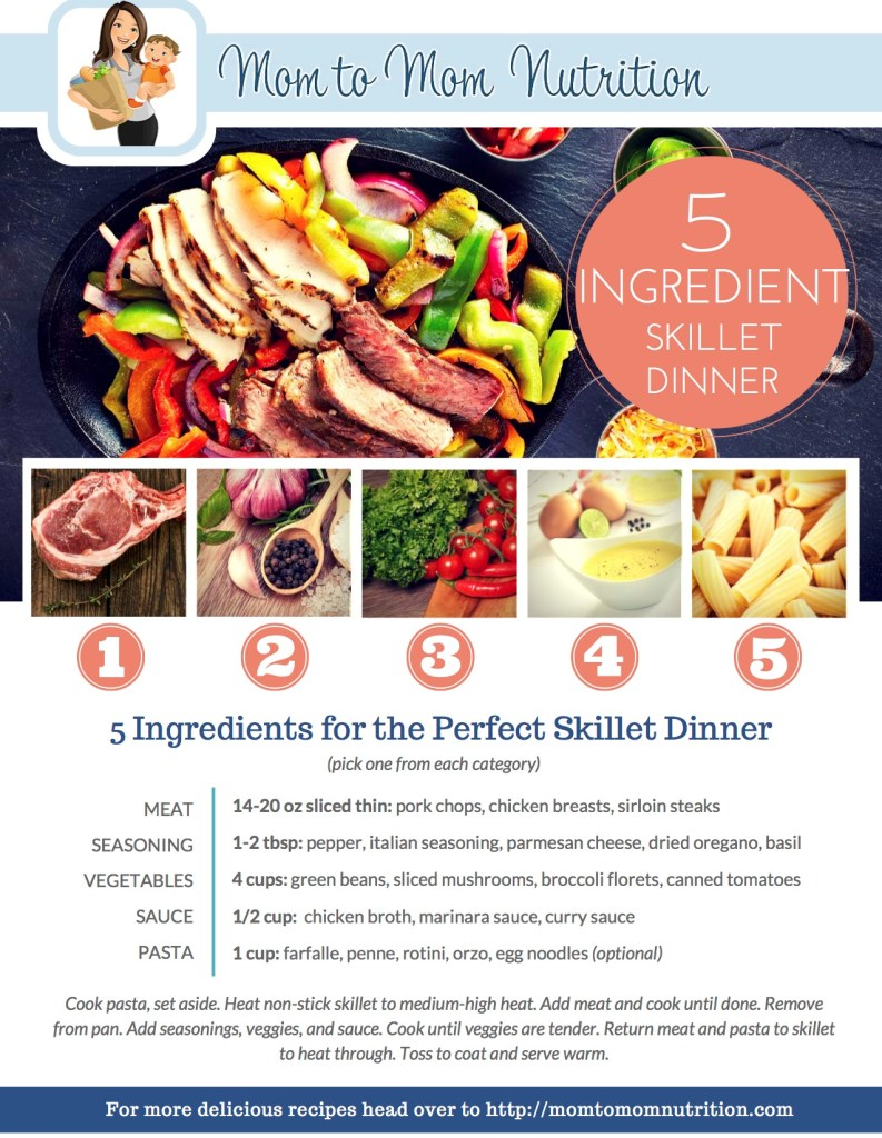 5 Ingredient Skillet Dinner - Mom to Mom Nutrition