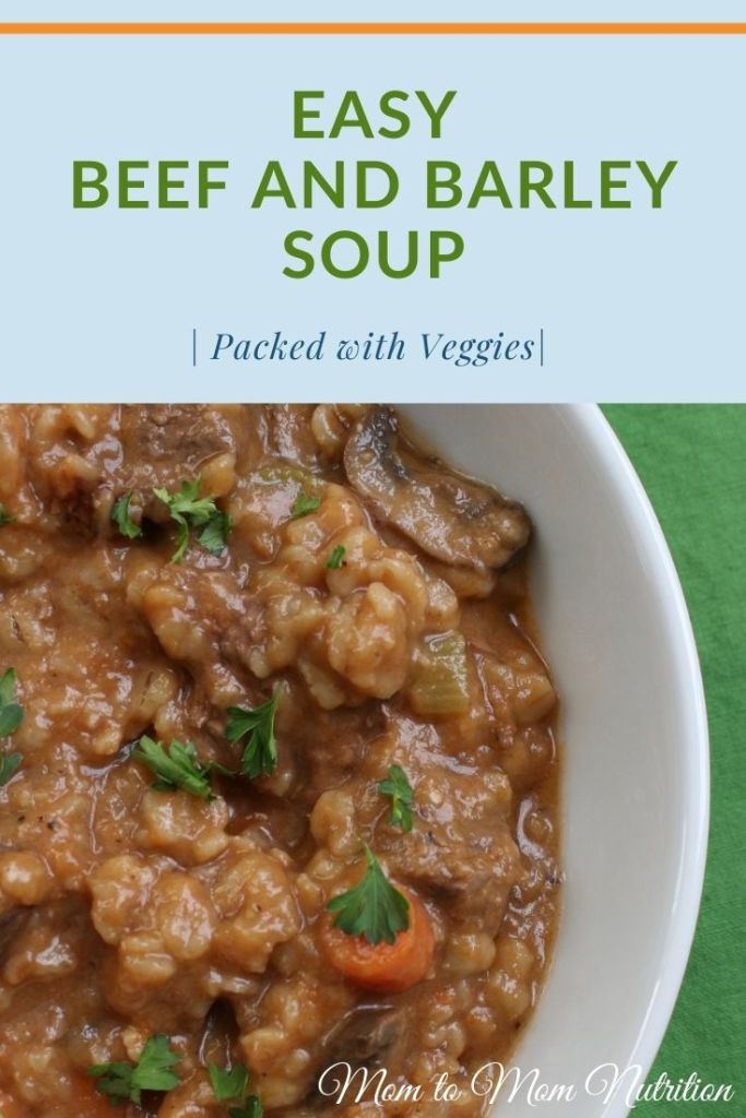 This easy beef and barley soup is made with whole grains, tender pieces of beef, and lots of veggies, making it the perfect one-pot meal! #beefandbarleysoupeasy #beefandbarleysoup #beefbarleysoup #beefbarley #easysouprecipes#veggiepackedsoup