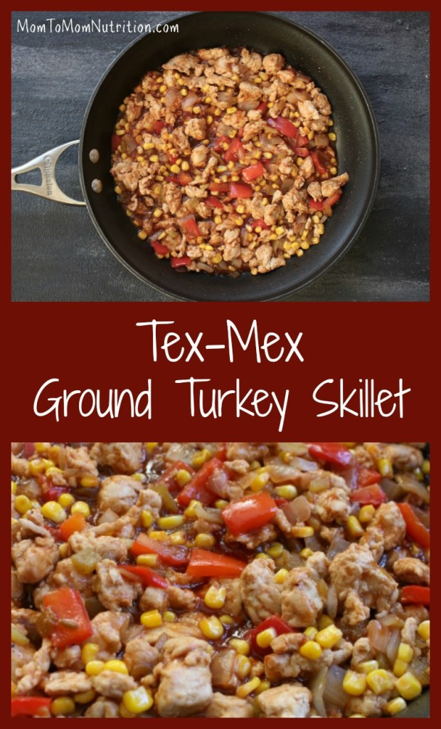 Tex-Mex Turkey Skillet is a heart-healthy dinner option made with the combined flavors of BBQ and Mexican cooking, plus super lean ground turkey breast.
