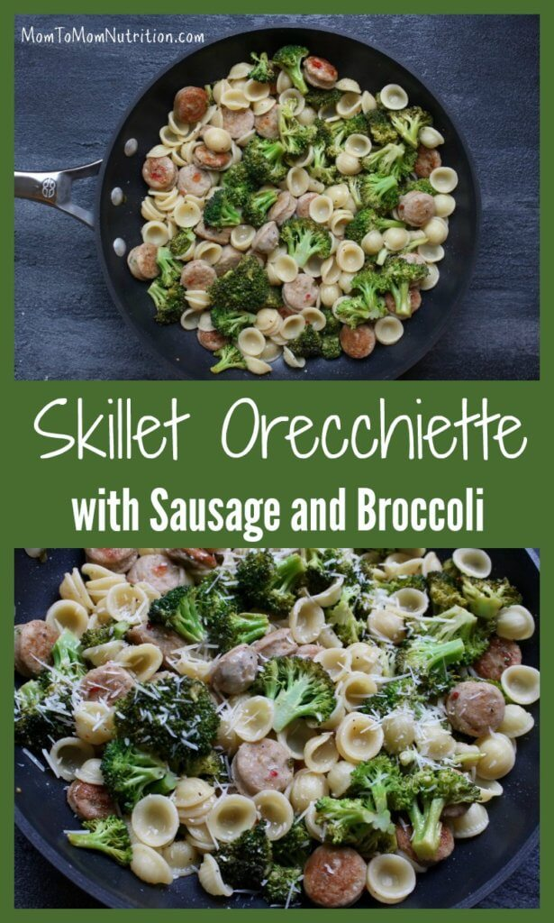 With just 5 ingredients, skillet orecchiette with sausage and broccoli is a simple, healthy weeknight meal ready in under 30 minutes!