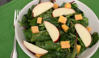 Kale Salad with Apples and Cheddar Cheese