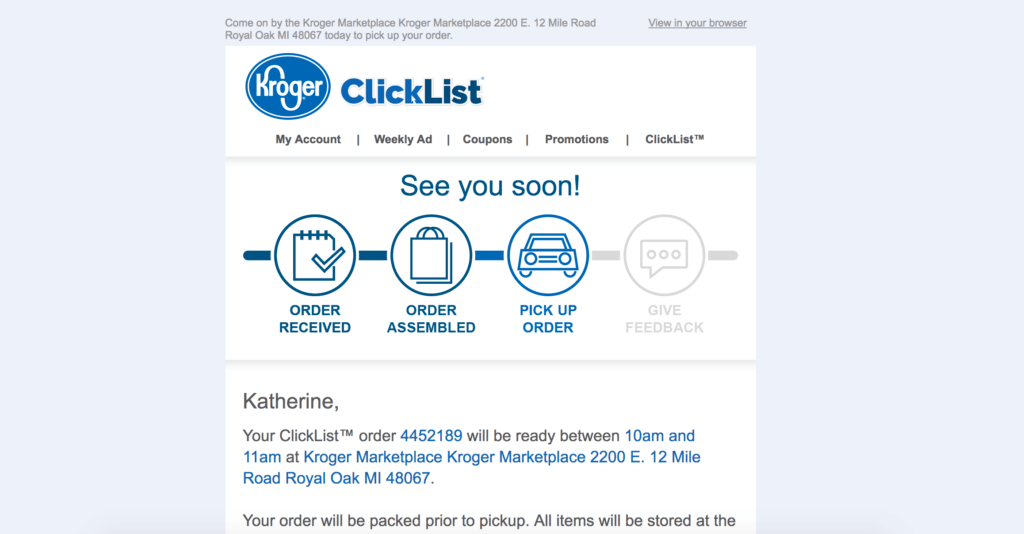 Here's an inside look at my experience using ClickList, an online grocery ordering service from Kroger.