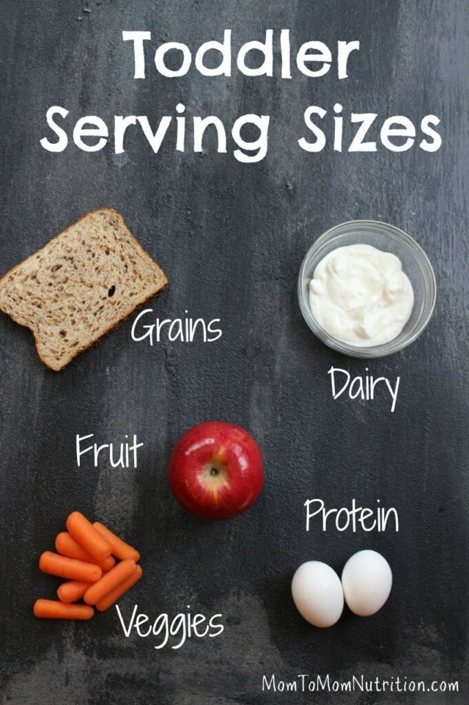 Get the scoop on what and how much your toddler should be eating with pictures of toddler serving sizes.