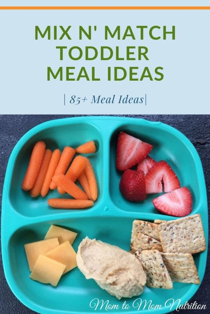Build a variety of healthy toddler meal ideas for your toddler [and entire family] from a basic food list of their favorite foods! #toddlerlunchideas #toddlermealideas #kidfriendlyrecipes #lunchboxideasfortoddlers #lunchboxideasforkids