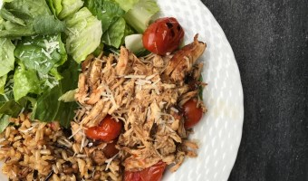Filled with layers of flavor and simple ingredients, this slow cooker balsamic chicken is sure to make any weeknight meal taste both elegant and delicious!