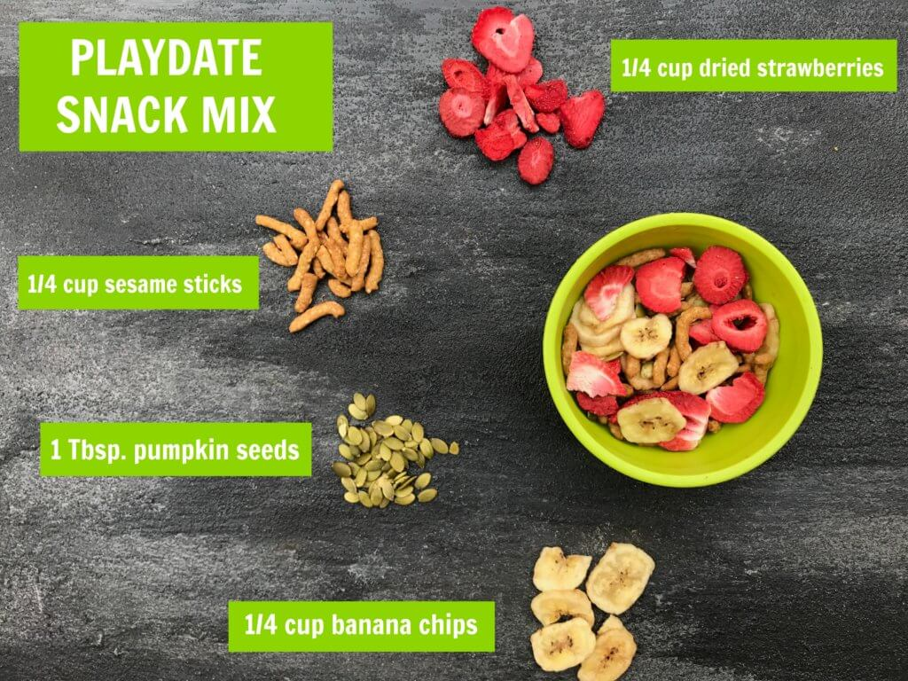 Looking for something besides fruit snacks or Goldfish at your next playdate? Then consider serving this crunchy, kid-friendly playdate snack mix!
