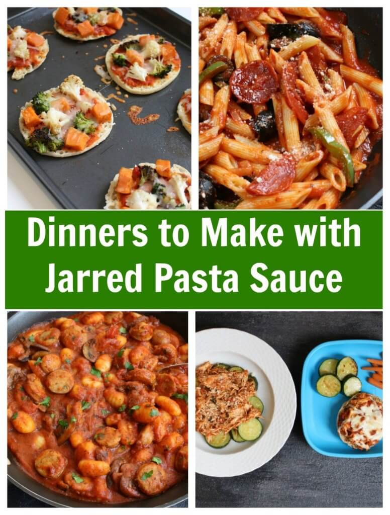 There's more than one way to use a jar of pasta sauce! Get dinner on the table in no-time with one delicious store-bought shortcut: jarred pasta sauce.