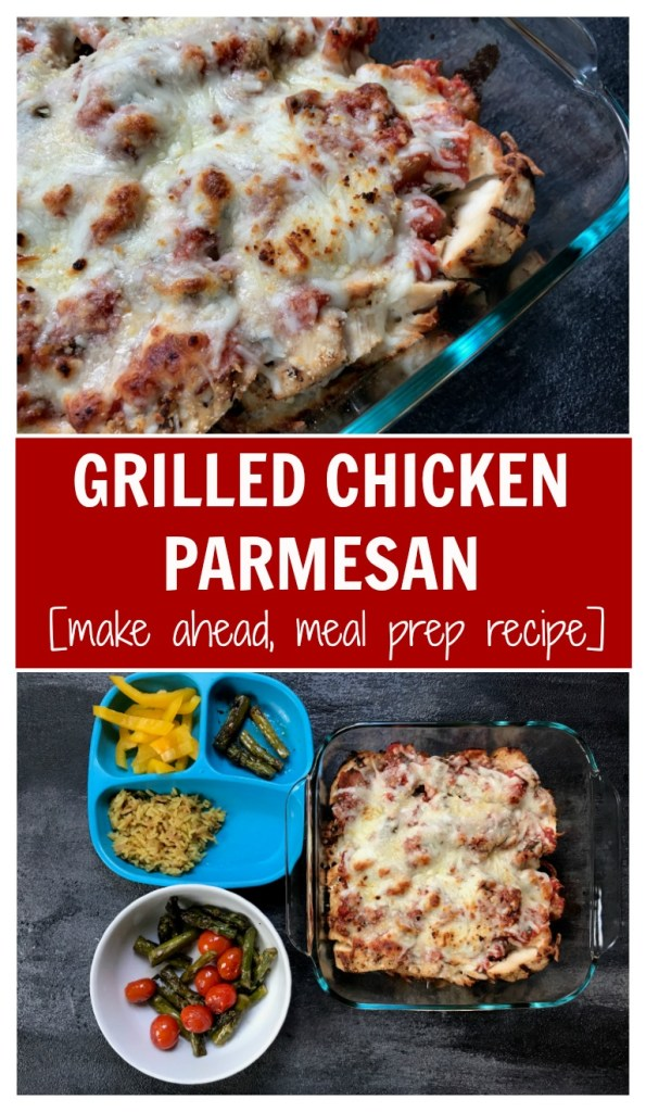 Grilled Chicken Parmesan is a lighter version of the Italian classic, made even easier by grilling the chicken ahead of time!