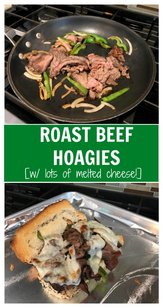 Take your deli sandwich game to the next level by making this beefy, cheesy roast beef hoagie with melted provolone cheese!