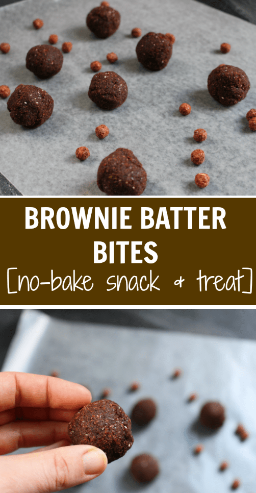 No-Bake Brownie Batter Bites taste just as chewy and chocolatey as brownies, but without all the stirring, baking, and waiting!