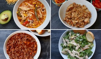A list of easy my family's dinner ideas meant to provide some weeknight inspiration when 5 pm hunger hits!