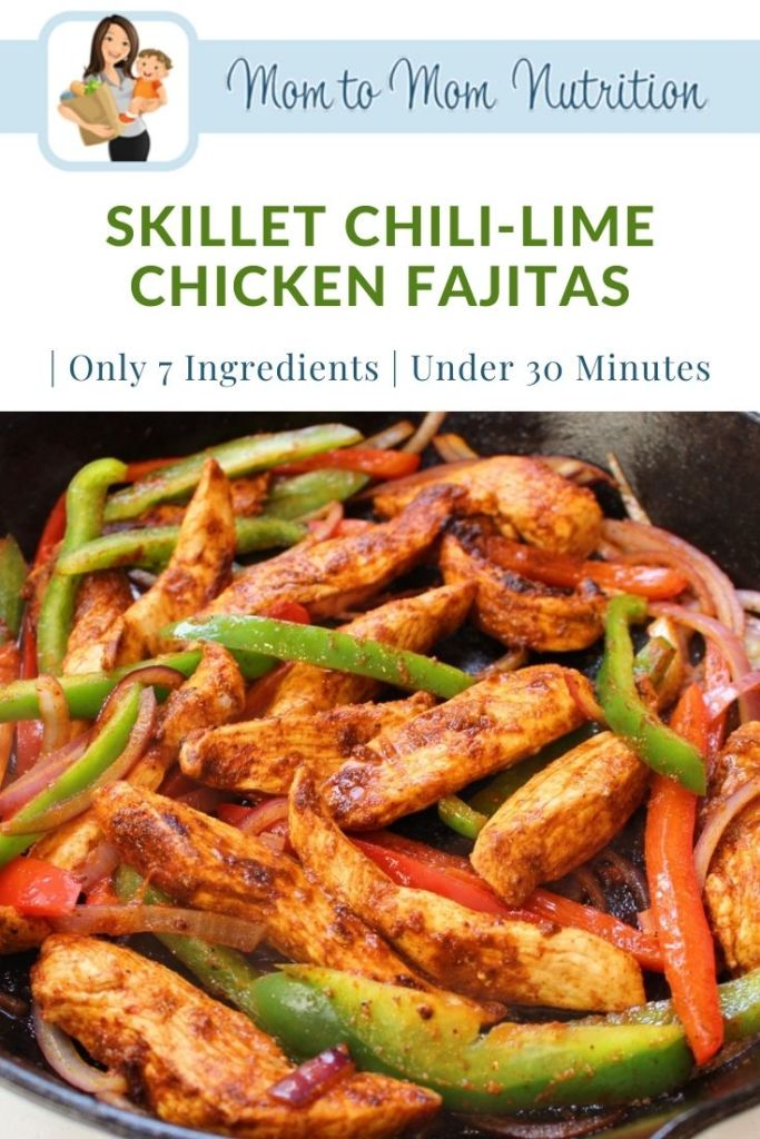 Skillet Chili-Lime Chicken Fajitas are a fast, fresh, and flavorful recipe that you can have on your dinner table in under 30 minutes!
