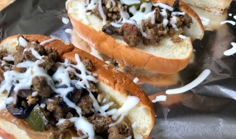 Slow Cooker Ground Beef Hoagies are the perfect melt-in-your-mouth sandwich made with lean beef, lots of veggies, and the ease of your slow cooker.