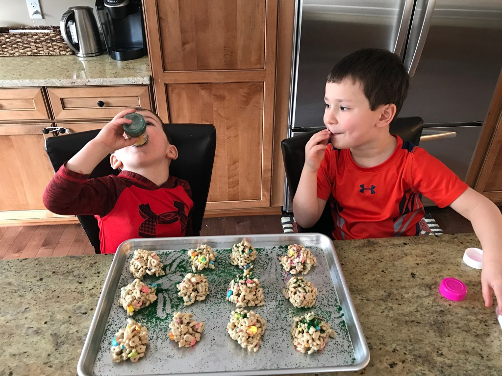 Lucky Charms Bites make one tasty St. Patrick's Day treat. Made with just 3 ingredients and crunch and color from Lucky Charms cereal.