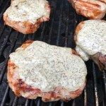 Grilled Pork Chops with Lemony Dill Sauce
