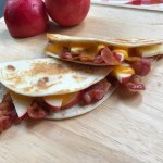 Apple, Cheddar, and Bacon Quesadillas