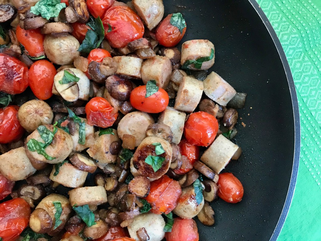 Italian Sausage Skillet Dinner is packed with lean protein, Italian flavors and plenty of fresh vegetables. Plus it's ready in less than 20 minutes, making it one easy weeknight meal.