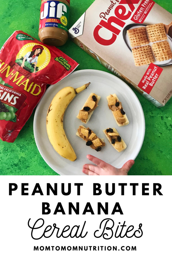 Peanut Butter Banana Cereal Bites combine sweet, savory, and crunch! All you need is a few staple peanut butter ingredients and your favorite cereal to enjoy this kid-friendly treat.