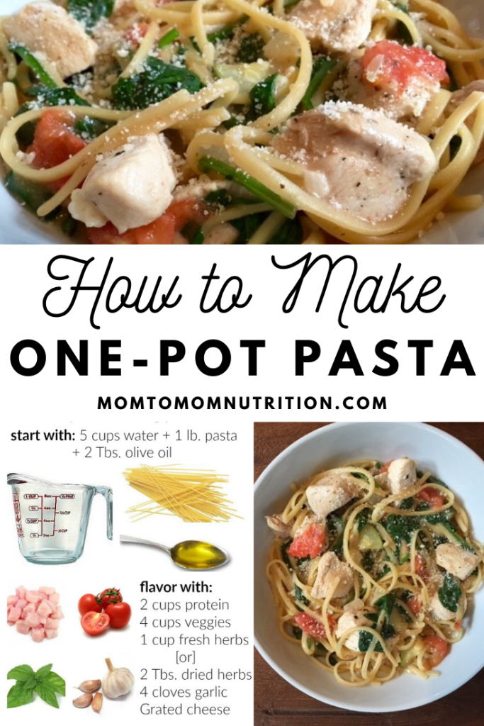Learn how to make a simple, flavorful weeknight meal using fresh ingredients, whole grain pasta, and one simple one-pot pasta formula.